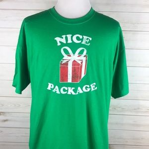 Unisex Nice Package Green Christmas Funny T-Shirt